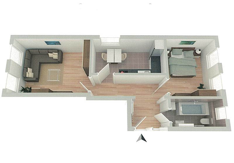 Erstbezug: Sanierte 2-Raum-Wohnung in DD Briesnitz